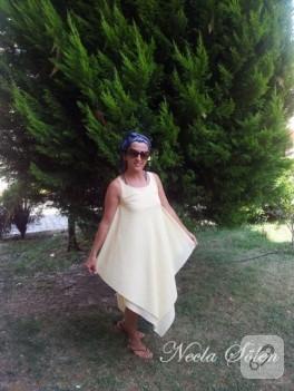 Yazlık sarı elbise