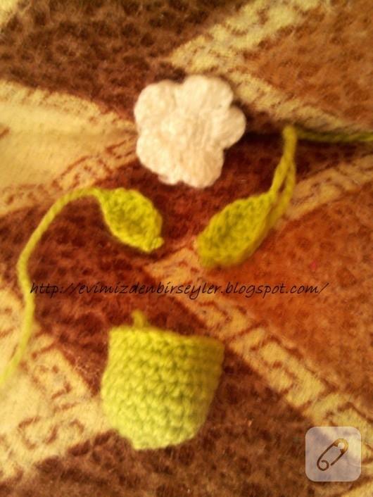 amigurumi çiçek yapımı