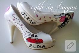 Ayakkabı süsleme; gelin ayakkabısı