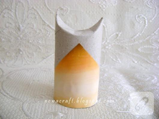 Tuvalet kağıdı rulosundan baykuş yapımı