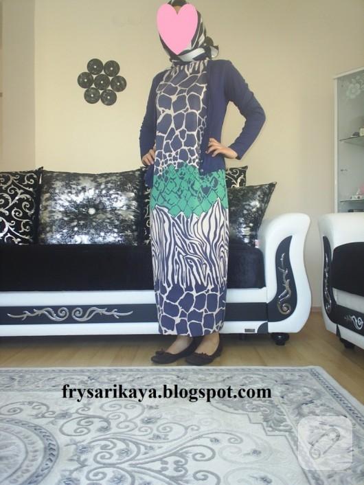 Kayık yakalı uzun elbise