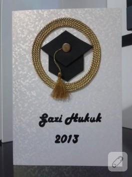 El yapımı mezuniyet tebrik kartı