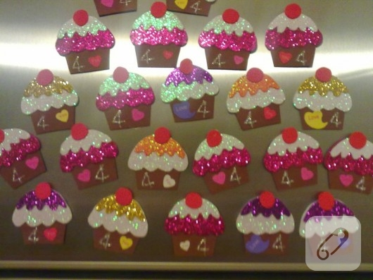 Evadan cupcake magnetler