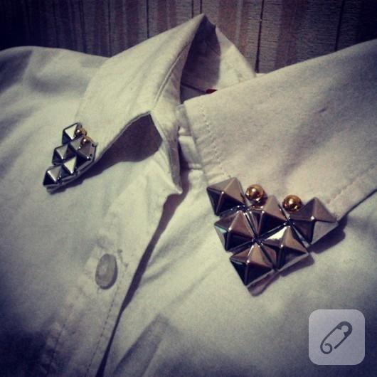 gömlek yakası süsleme