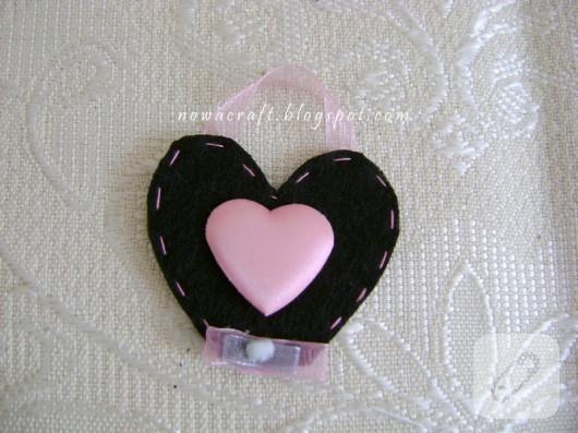 Keçe kalp magnet