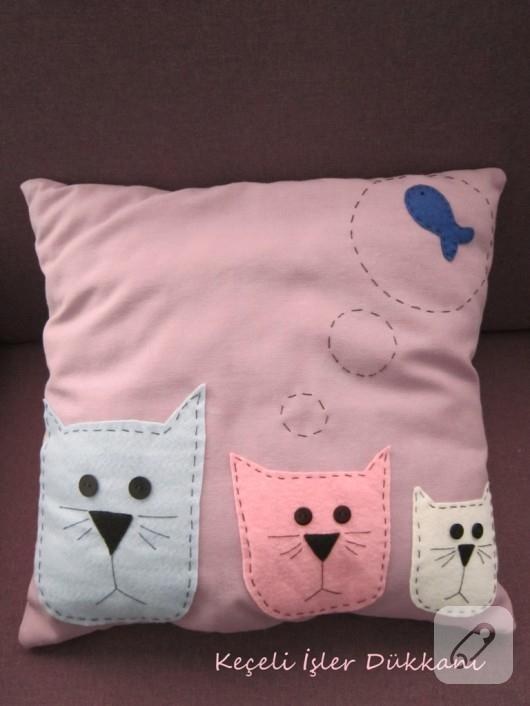 keçe yastık modelleri