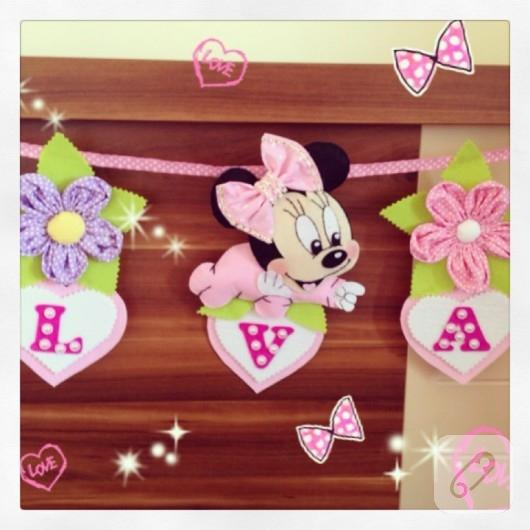 Minnie Mouse keçeden isimlik