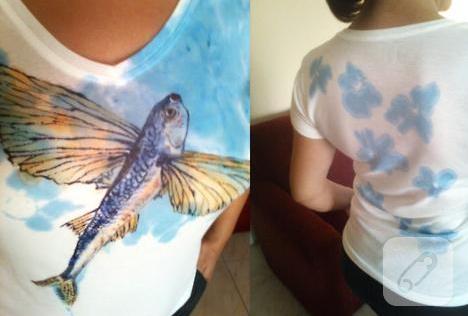 Kumaş boyası ile tişört süsleme