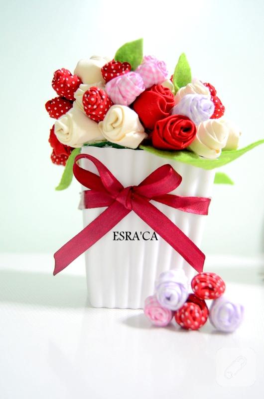 kumaş çiçekler