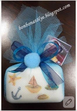 Deniz temalı sabunlar (sabun süsleme)