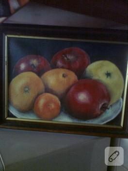 Yağlı boya meyveli tablo