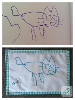 Kişisel yastık – çocuğunuzun çizimlerine boyut veriyoruz