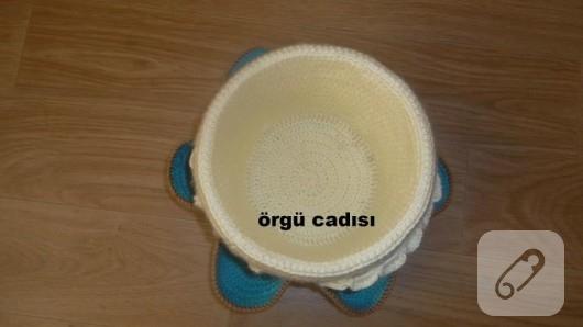 Yoğurt kovasından sepet