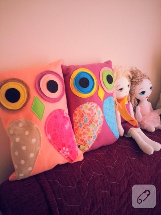 baykuş yastıklar