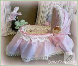 Keçe balerinli bebek şekeri sepeti