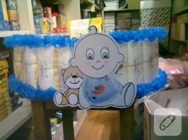 Peppe'li bez bebek pastası