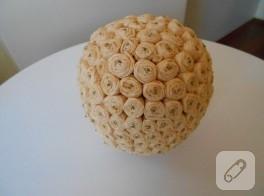 krapon kağıtlarından dekoratif gül topu