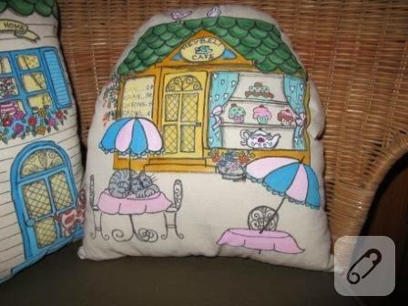 el boyaması yastıklar