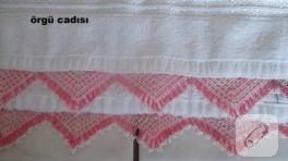 İğne oyalı üçgen havlu kenarı modeli