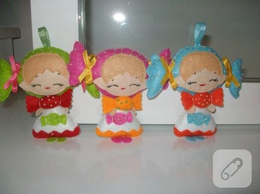 keçe bebek şekeri kızlar
