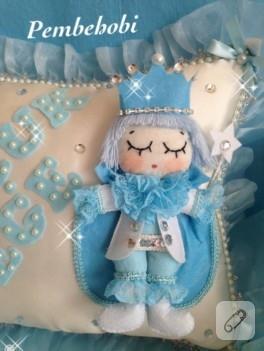 Prens bebek takı yastığı