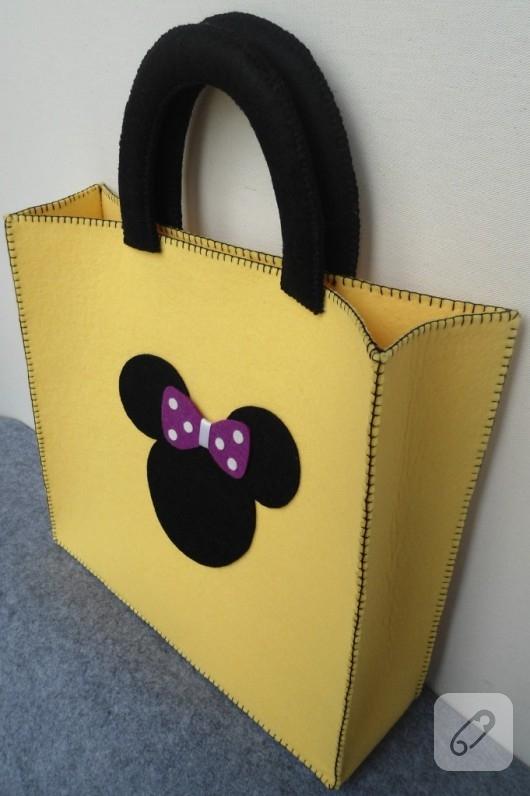 49a0e928fbabe Minnie Mouse keçe çanta – 10marifet.org