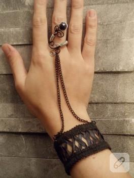 Gotik şahmeran tel kıvırma aksesuar