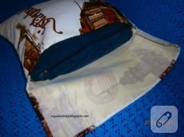 İstanbul temalı yastık dikimi