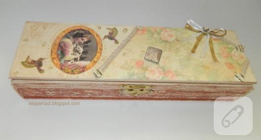 Ahşap vintage kutu