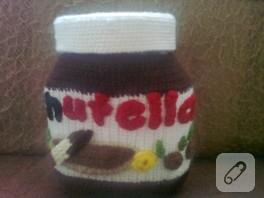Amigurumi Nutella kavanoz kılıfı