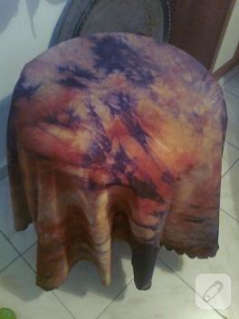 Batik boyama ile masa örtüsü yenileme