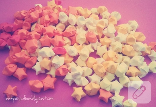 Origami yıldız yapımı