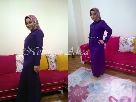 payet yakalı elbise