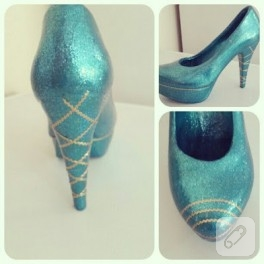 Seramik boyama dekoratif ayakkabılar