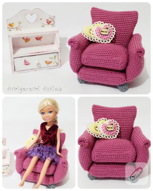 Amigurumi oyuncak koltuk