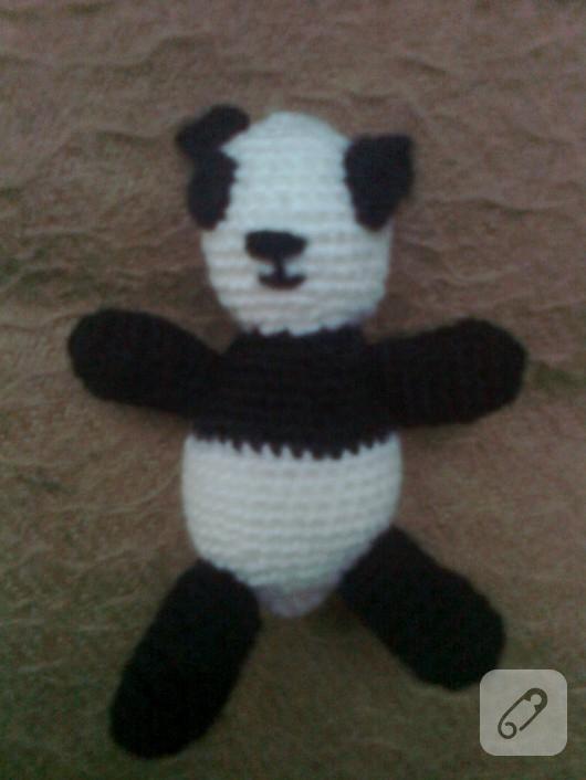 Amigurumi panda oyuncak