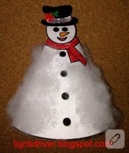 Çocuk etkinlikleri: kağıttan kardan adam