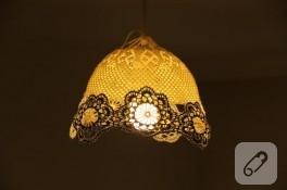 Ornitorenk Handmade' den bir dantel avize daha