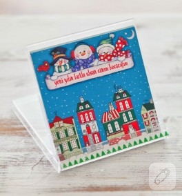 Yılbaşına özel kartpostal