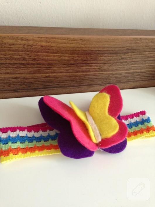 Kelebekli bebek bandanası