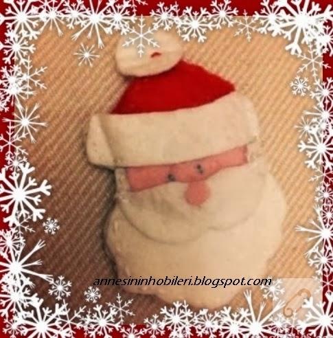 Keçeden Noel Baba magnet