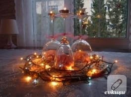 dekorasyon fikirleri; yeni yıl masa düzenlemesi
