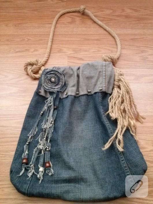 Eski Kotları Değerlendirme Yöntemi: Kot Çantalar
