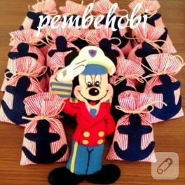 Mickey Mouse ve denizci temalı lavanta keseleri