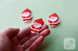 Origami ile minik Noel Baba yapımı