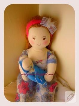 Anne ve bebeği – bez bebek