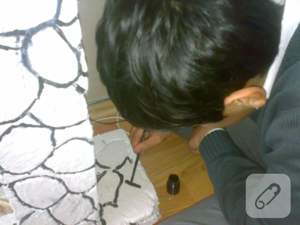 Strafordan şömine yapımı
