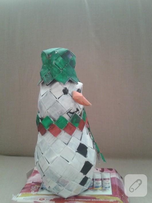 Kağıttan kardan adam yapımı