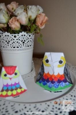 Çocuk etkinlikleri; origami baykuş