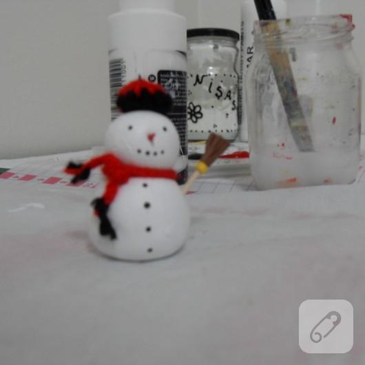 fimo kardan adam anahtarlık yapımı